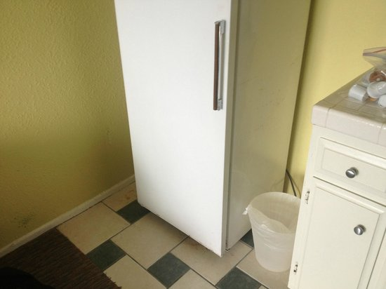 Pacific Edge Hotel on Laguna Beach:                   Kitchenette fridge very run down and dirty