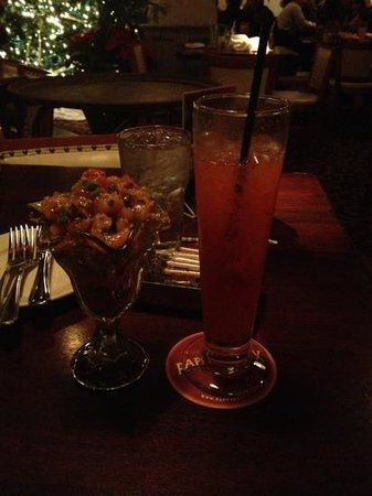 Pappadeaux Seafood Kitchen: New Orleans Campechana and liquor.