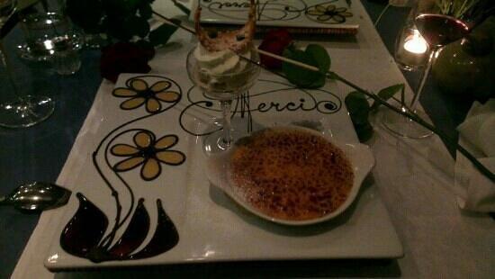 La Fleur :                   dessert