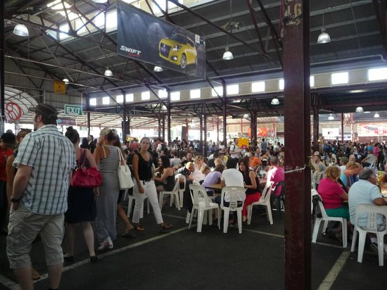 Queen Victoria Market:                   Plenty of tables..but get there early!