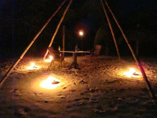 Cocobay Resort:                   Private Beach Dinner