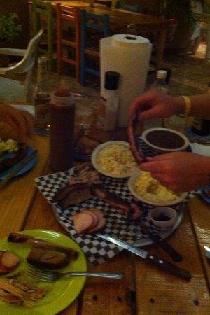 Lobo Lui's BBQ Shack:                                                                         Platter for 2