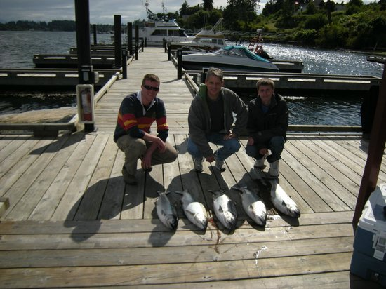 Sooke Salmon Charters :                   A good day fishing