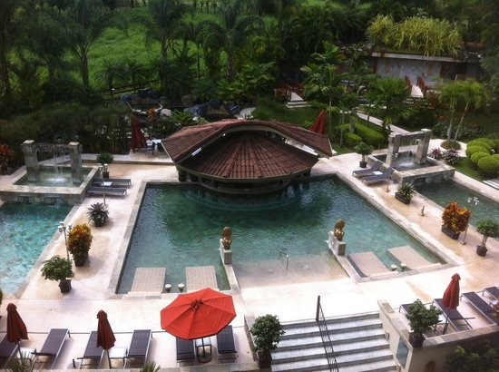 The Royal Corin Thermal Water Spa & Resort:                   The view from the balcony of our room