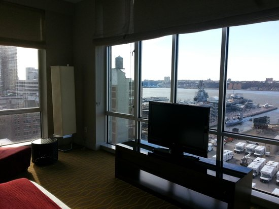 Kimpton Ink48 Hotel:                   View from the living area in the Hudson Suite