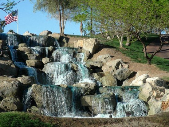Arizona Grand Resort & Spa:                   Waterfall on golf course