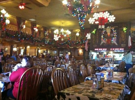 big texan steak ranch christmas decorations interior dining area big texan amarillo