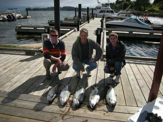 Sooke Salmon Charters :                   Nice catch