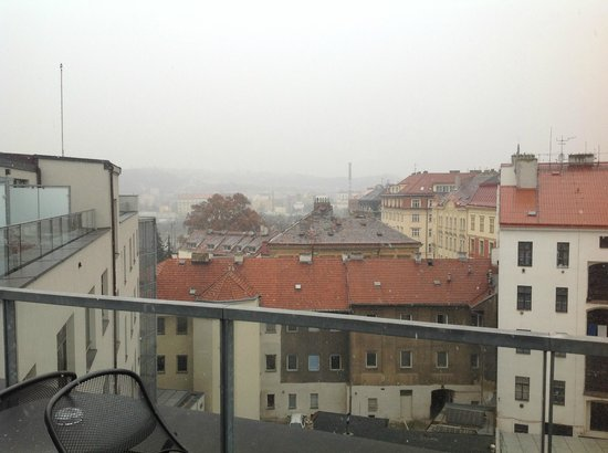 Park Inn Hotel Prague: view from executive room terrace