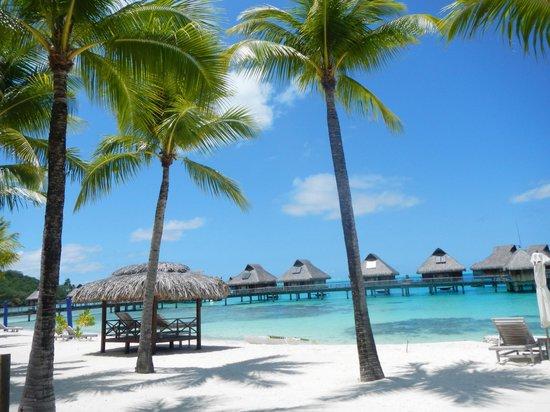 Conrad Bora Bora Nui:                   View of part of the beach