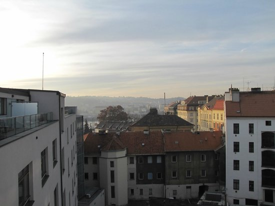 Park Inn Hotel Prague : view from executive room terrace