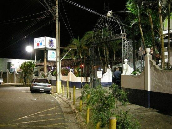 El Pueblo:                   Out front during the night