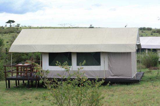 Mara Eden Safari Camp:                   Our tent facing theTalek river