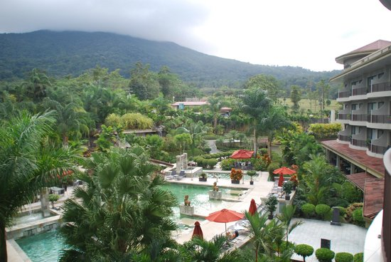The Royal Corin Thermal Water Spa & Resort:                   View from our balcony