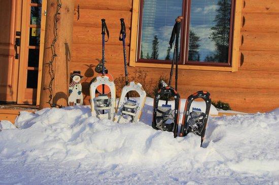 Northern Lights Resort & Spa:                   Snow shoeing!