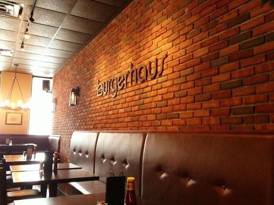 Burger Haus:                   Inside Burgerhaus