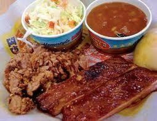 Dickey's Barbecue Pit:                   Two Meat Plate