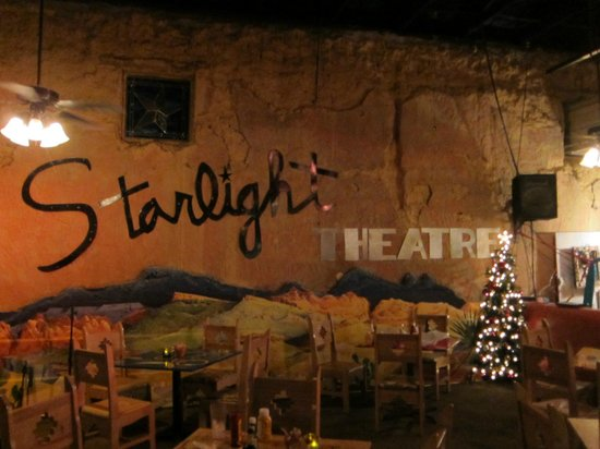 Starlight Theatre: the 'stage' where bands sometimes play or they just put tables for people to eat