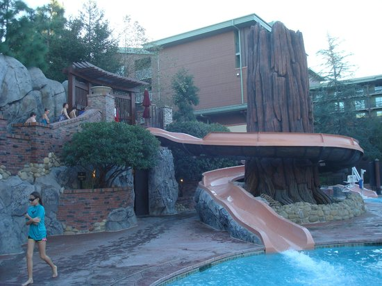 Disney's Grand Californian Hotel & Spa:                   Waterslide