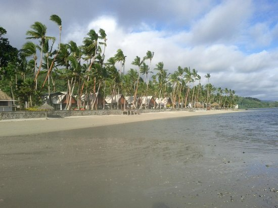 Fiji Hideaway Resort & Spa:                                     Standing in the water sea looking back to at the resort