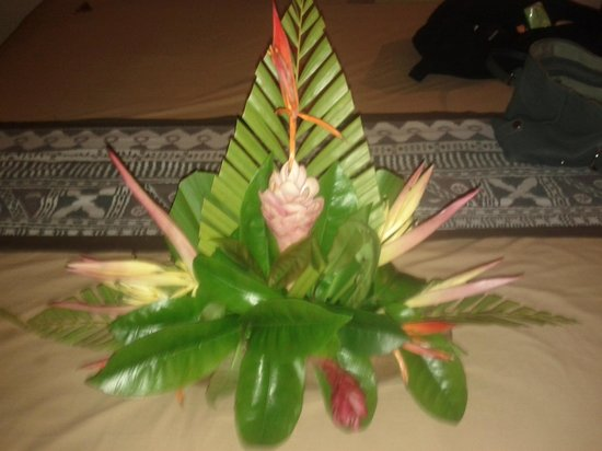 Fiji Hideaway Resort & Spa:                                     Flowers everyday in room