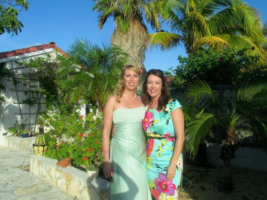 Harbour Club Villas & Marina:                                     My friend and I leaving the villas for my beach wedding.  Th