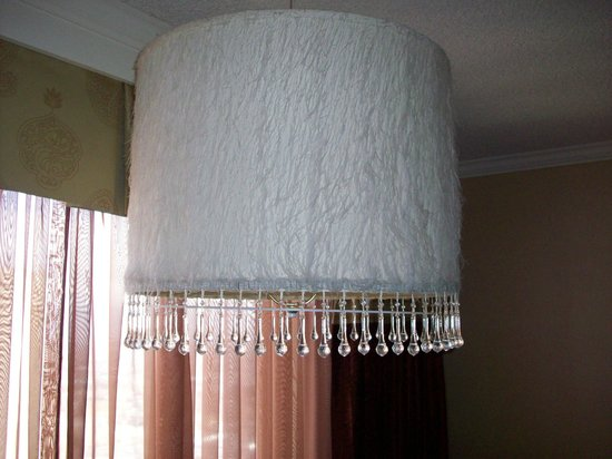 Harrah's Reno:                                     70s era lamp with fuzzy shade and plastic beads