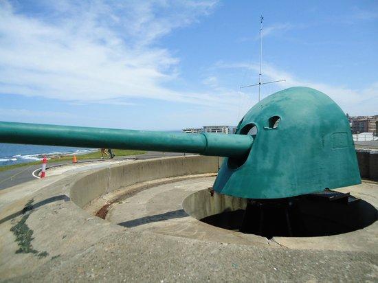 Νιούκαστλ, Αυστραλία: Rotating gun on top of fort.