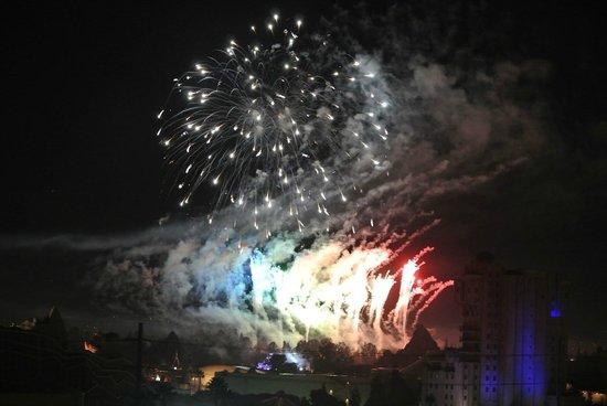 Sheraton Park Hotel at the Anaheim Resort: Disneyland Fireworks from room