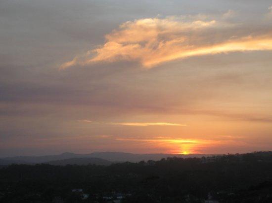 Seaview Resort :                   Sunset from  back balcony