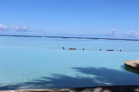 Pacific Resort Aitutaki:                                                       Three Colours Blue: Pool, Langoon and the