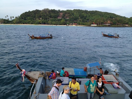Holiday Inn Resort Phi Phi Island: From the ferry, you will need to transfer to these longtail boats to get to the hotel