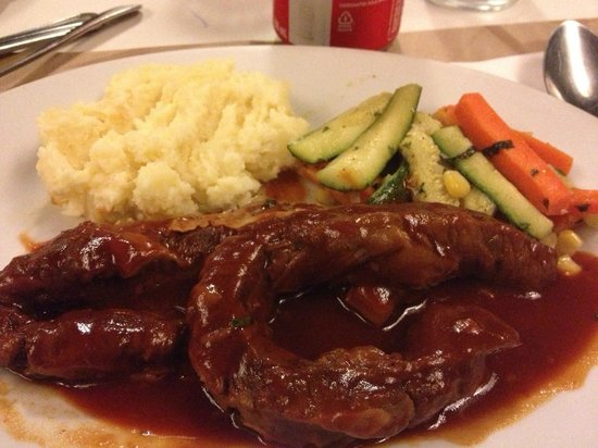 Mr. Rockefeller: pork steak & mushed potatoes ^_^