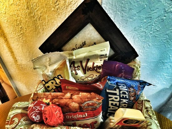 Hotel California:                                     Snack pack in our room - no extra charge!
