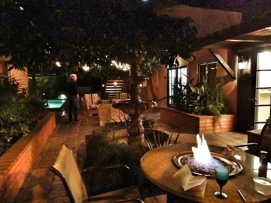 Hotel California:                                     The lovely outdoor common area