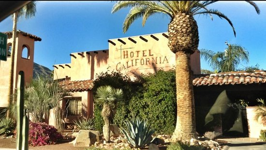 Hotel California:                                     The exterior of the hotel