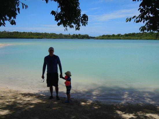Aquana Beach Resort:                                     Biggest Natural Pool in Vila! 400 metres long at Aquana Beac