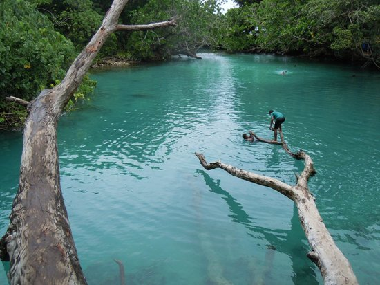 Aquana Beach Resort:                                     Blue Lagoon Swimming Hole Fresh and Saltwater