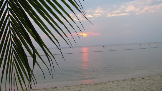 Sasco Blue Lagoon Resort:                   Sunset on the beach.