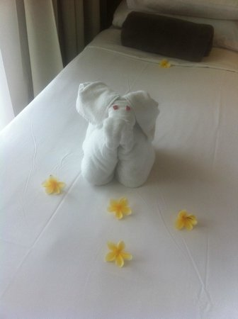 The Breezes Bali Resort & Spa:                   lovely daily towel art