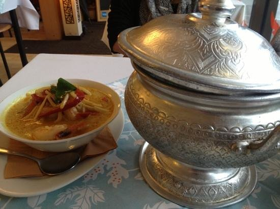 Coconut Thai Restaurant:                   rice and red curry