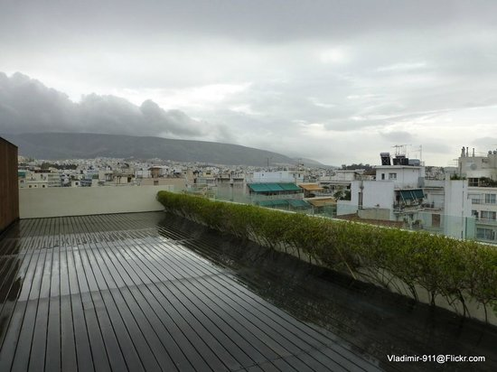Herodion Hotel: Roof top patio of the hotel