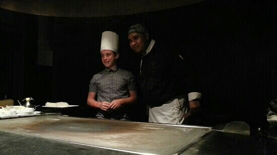 L'Asiatique :                   Jack helping prepare our dinner