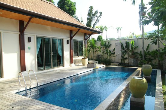 Two Villas Holiday Oriental Style Naiharn Beach:                   Private pool right outside the living room