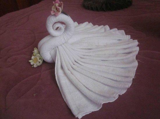 أوكيه 1 فيلا:                   Beautiful bedroom towels!                 