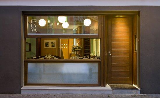 Apartamentos Espacio Eslava: Entrada del restaurante