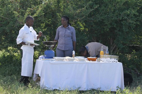Madikwe Safari Lodge:                   bush breakfast