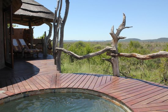 Madikwe Safari Lodge:                   room deck