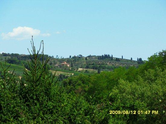 Agriturismo Lucciano: vista dalla terrazza