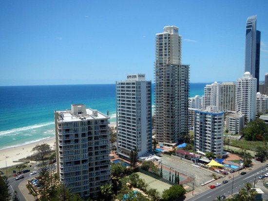 QT Gold Coast:                   View from the room